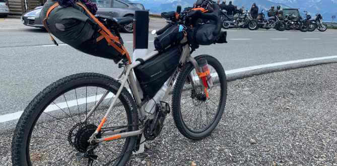 Bikepacking Fahrrad am Jaufenpass