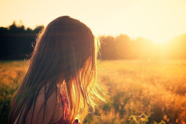 Haare in der Sonne